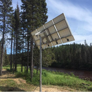 Installation en forêt de l'énergie solaire